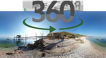 immagine panoramica a 360° del virtual tour della costa dei trabocchi